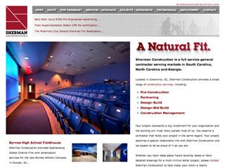 Sherman Construction Website image