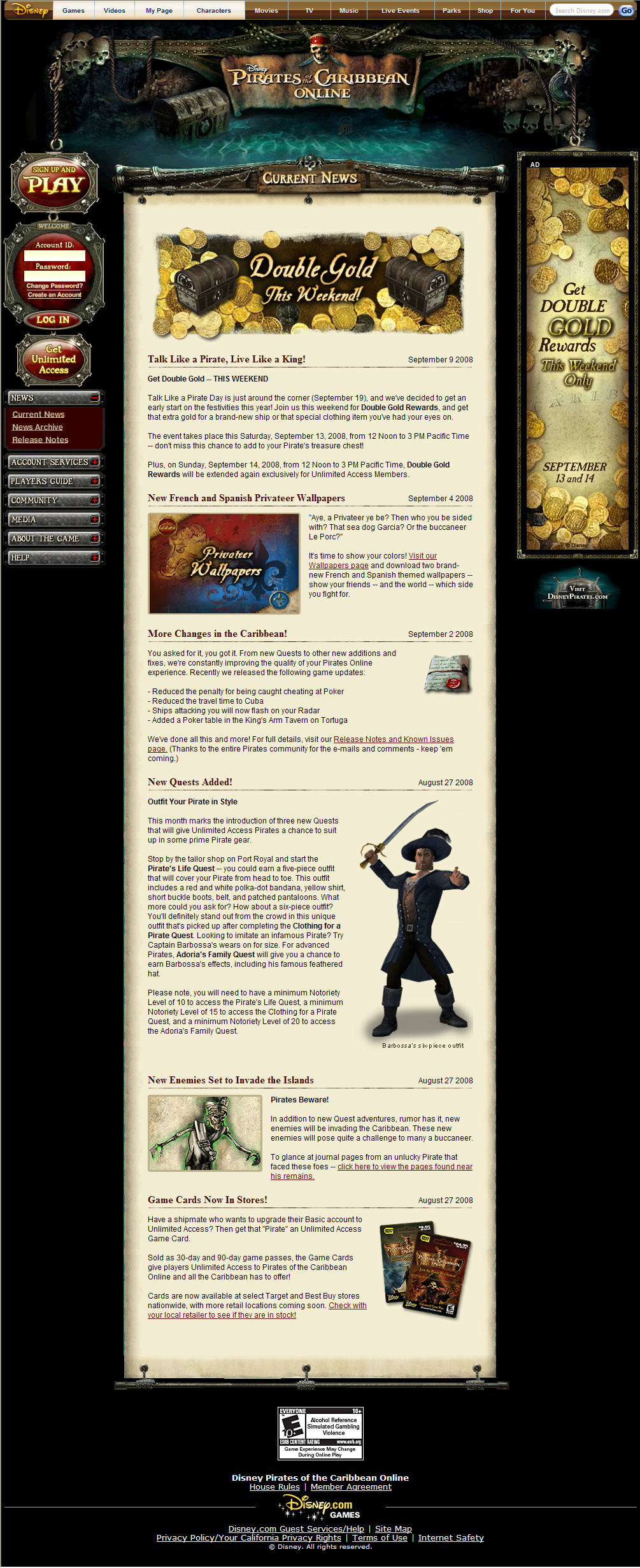Pirates of the Caribbean Online image