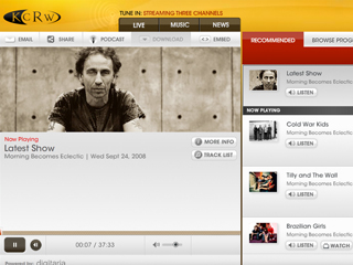 KCRW Media Player image