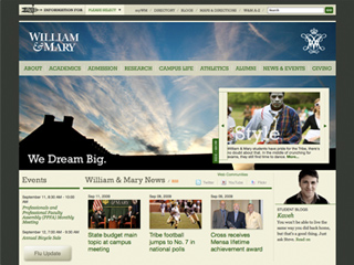 College of William and Mary Website image