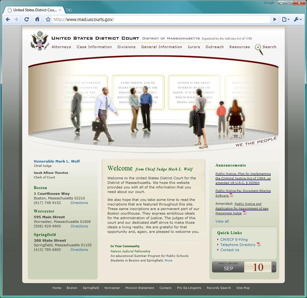 U.S. District Court - Massachusetts image
