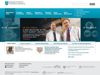 Massachusetts General Hospital Corporate Website Redesign image