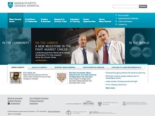 Massachusetts General Hospital Corporate Website Redesign image