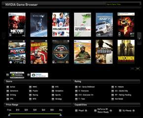 NVIDIA Game Browser image