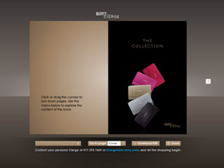 Sony Cierge Online Holiday Guide 2008  image
