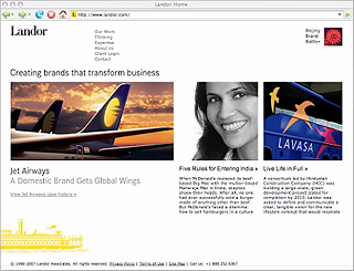 Landor Associates Corporate Web Site image