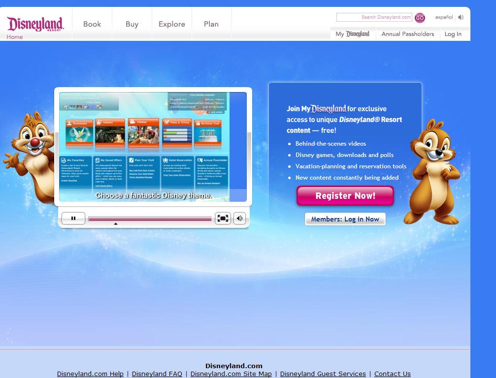 My Disneyland Website image