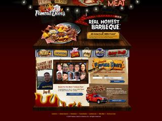 Famous Dave's BBQ Web site image