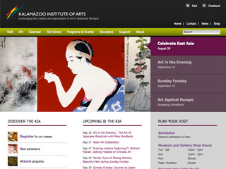 Kalamazoo Institute of Arts Website image