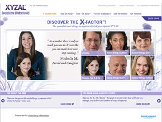 Xyzal Website image