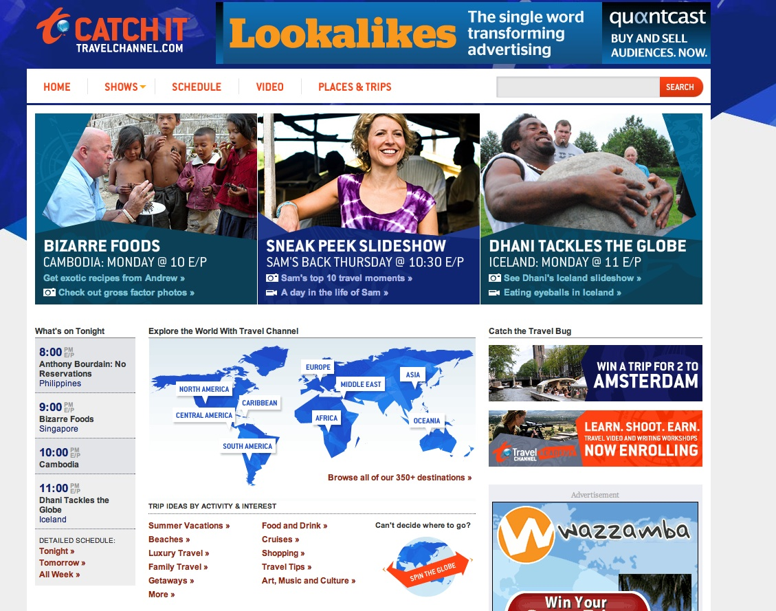 The New TravelChannel.com image