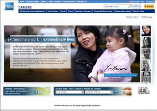 American Express Global Careers Web site image