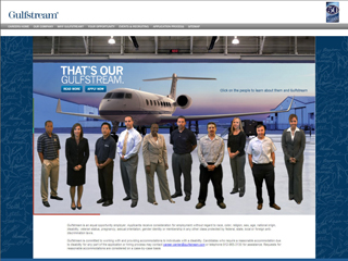 Gulfstream Careers Web site image
