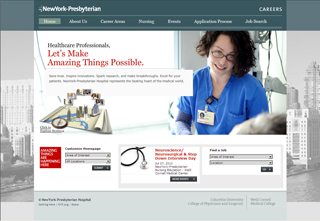 NewYork-Presbyterian Careers Web site image