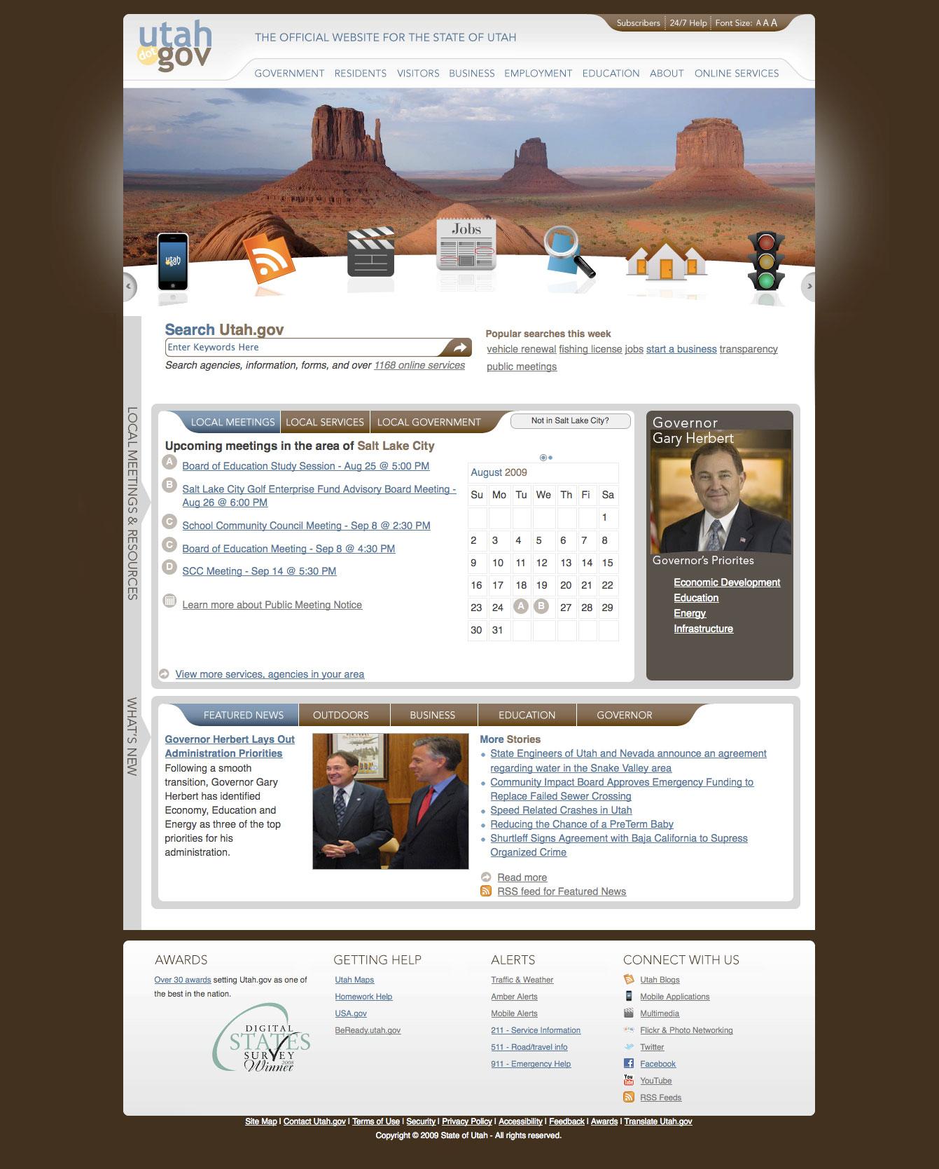 Utah.gov/The Official Website of the State of Utah image