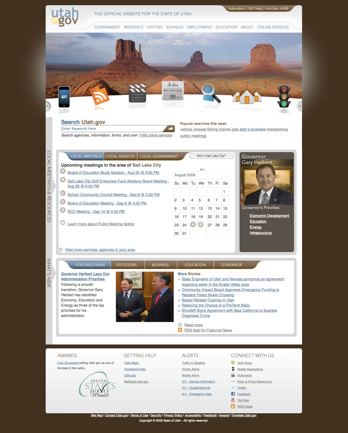 Utah.gov/The Official Website of the State of Utah image