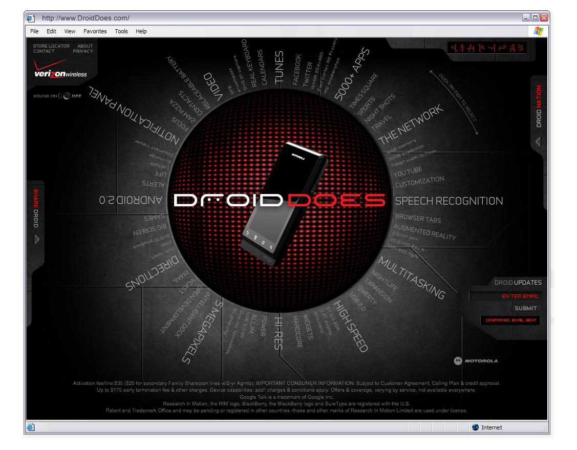 Verizon Wireless Droid Launch Digital  image