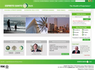 Espirito Santo Bank Corporate Portal image