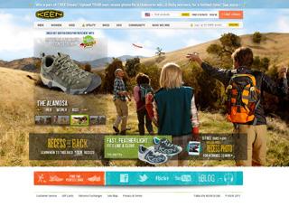 KEEN Footwear Global e-Commerce Website image