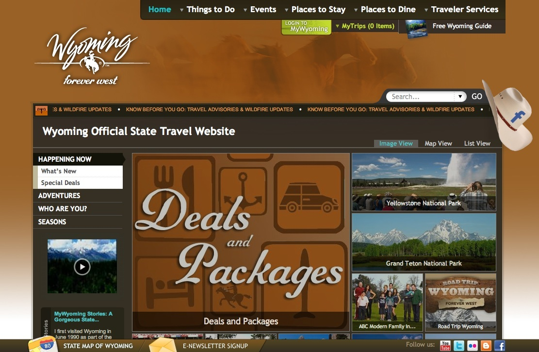 Wyoming Travel and Tourism Web Portal and Online Management System image