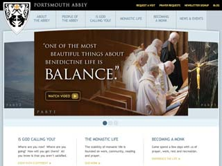 Portsmouth Abbey Monastery Website image