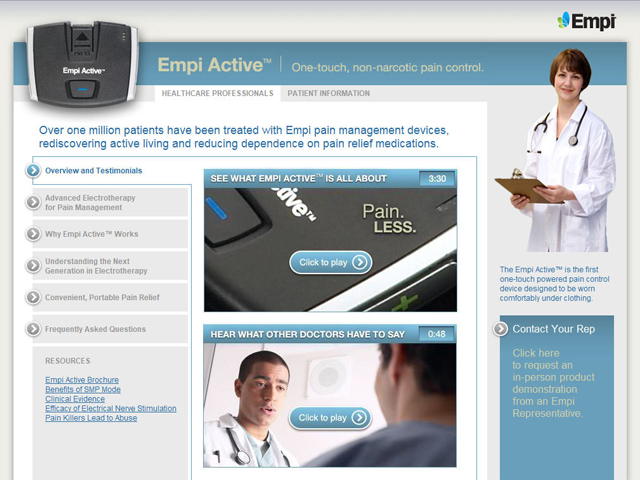 Empi Active product web site image