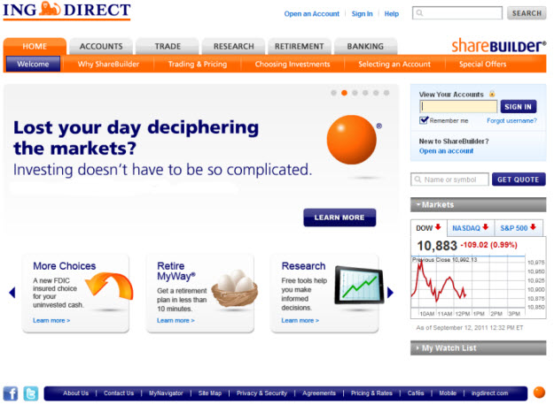 ing direct login usa