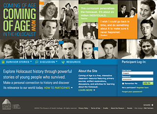 Coming of Age website image