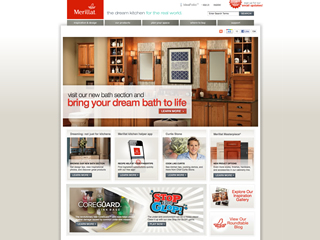 Merillat Cabinetry Website image