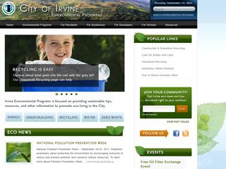 City of Irvine Environmental Programs Website image
