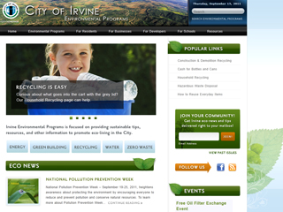 City of Irvine Environmental Programs Website image