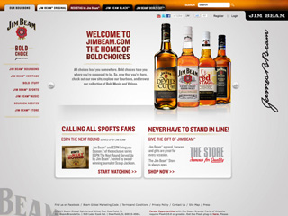 Jim Beam - Brand Website image