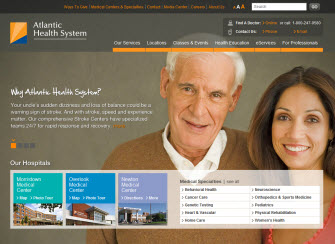 Atlantic Health Website image
