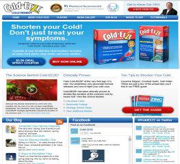 Cold-EEZE Website image