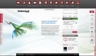 Intersil.com Website image