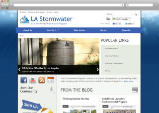 LA Stormwater Program Website image