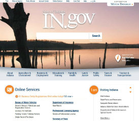 State of Indiana Web Portal image