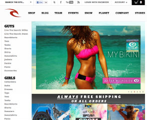 Rip Curl North American eCommerce Site image