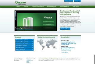 Quanex Building Products Website image