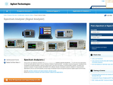 Agilent Electronic Test & Measurement Redesign: Collection Page image