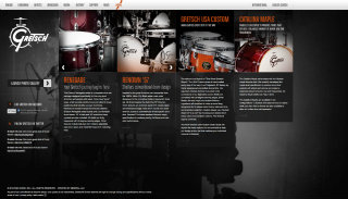 Gretsch Drums Website image