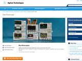 Agilent Electronic Test & Measurement Redesign: Oscilloscopes Collection Page image