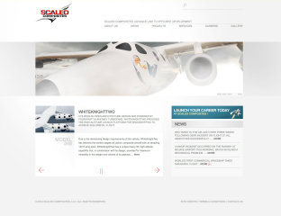 Scaled Composites Website image