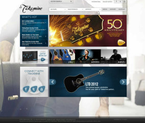 Takamine Guitars Website image