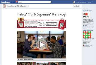 Heinz Ketchup - Dip & Squeeze Facebook App image