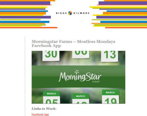 Morningstar Farms - Meatless Mondays Facebook App image