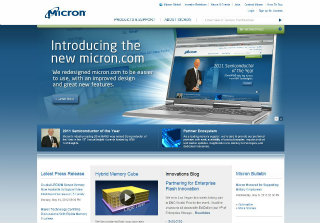 Micron Website Redesign image