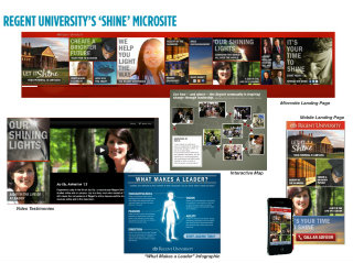 Regent University's 'Shine' Microsite image