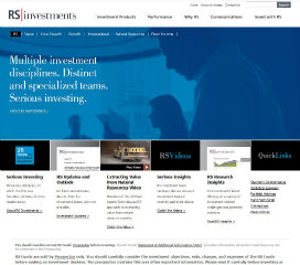 RS Investments Website Redesign image