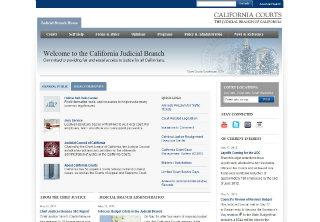 California Courts Website Redesign image
